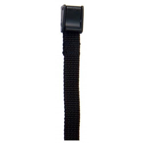 Correa espuela inglesa nylon fina negro con clip (par)