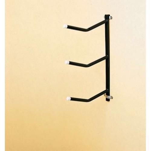 Portasillas pared stubbs fijo desmontable base tubular (3 brazos