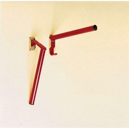 Portasillas pared stubbs plegable abajo base tubular (1 brazo) s